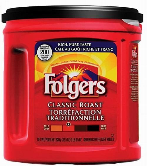 Folgers 福爵 烘焙咖啡6.4折 6.94加元!