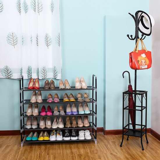 Songmics 5层大容量鞋架 26.99加元!
