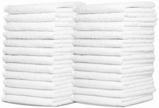 Royal 商用级优质纯棉方巾/毛巾24件套超值装 18.65加元限量特卖!