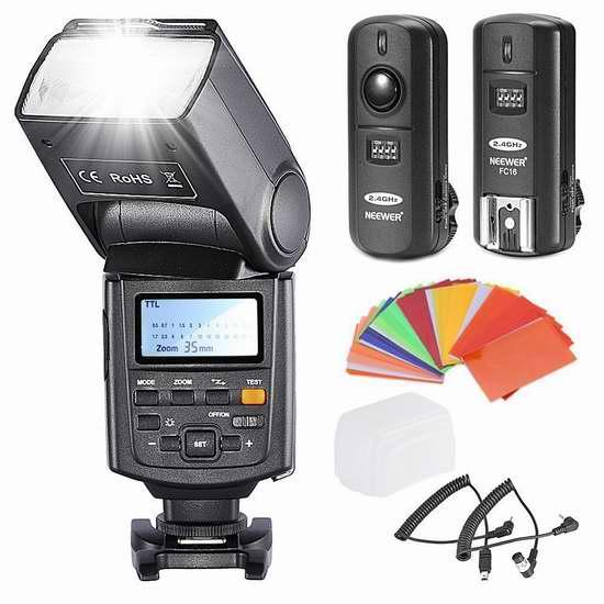历史新低!Neewer NW685N i-TTL 1/8000s 高速同步Nikon单反相机专用闪光灯超值套装 65.34加元限时清仓并包邮!