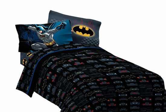 历史新低!Warner Bros Twin 蝙蝠侠 床单3件套5.2折 29.94加元限时特卖!