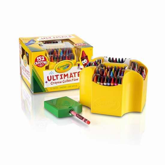 金盒头条:精选14款 Crayola 绘儿乐 超值装马克笔、蜡笔、水彩笔、玩具等4.3折起限时特卖!