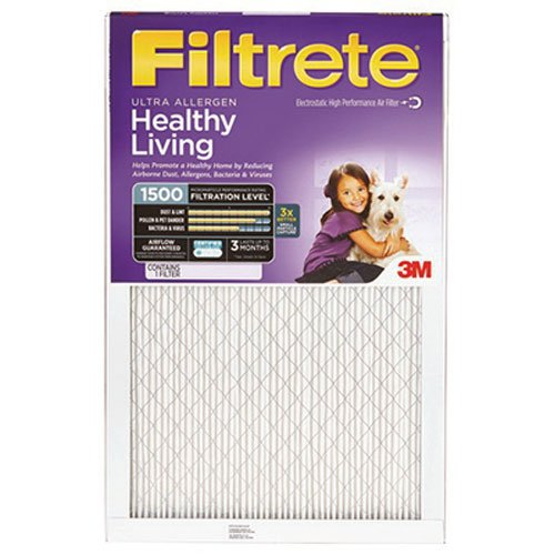 3M旗下品牌!Filtrete 2022DC-6 Ultra Allergen 1500 防过敏家庭空调暖气炉过滤网(6个装 20x30x1英寸)2.5折 43.03加元限时清仓并包邮!