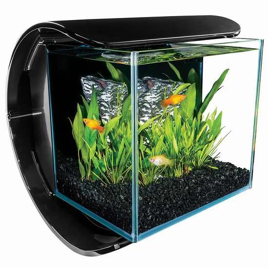 Marineland Silhouette 3加仑 时尚水族箱/鱼缸套装4.9折 57.64加元限时特卖并包邮!