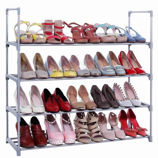 SONGMICS 4层鞋架6.6折 16.54加元!