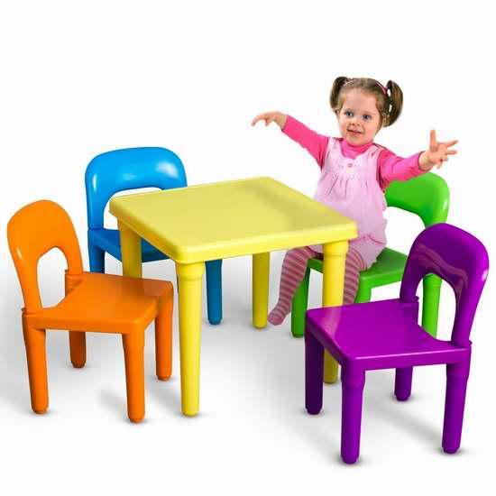 OxGord PLTC-01 儿童桌椅5件套 44加元限量特卖并包邮!