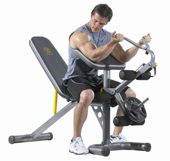 历史新低!Gold's Gym GGBE1486 XRS 20 多功能健身凳5.6折 188.99加元限时特卖并包邮!