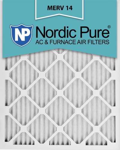 售价大降!历史新低!Nordic Pure 16x25x1M14-6 MERV 14 顶级防过敏空调暖气炉过滤网(16x25x1英寸 6件套)6.1折 49.23加元限时特卖并包邮!