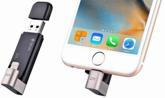 ipad mini 插u盘_Devia 32GB iPhone/iPad专用U盘 35.19加元限量特卖并包邮!即插即用 ...
