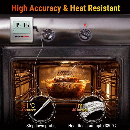 ThermoPro TP-16 多功能家用厨房烹饪探针式电子测温仪 22.08加元!