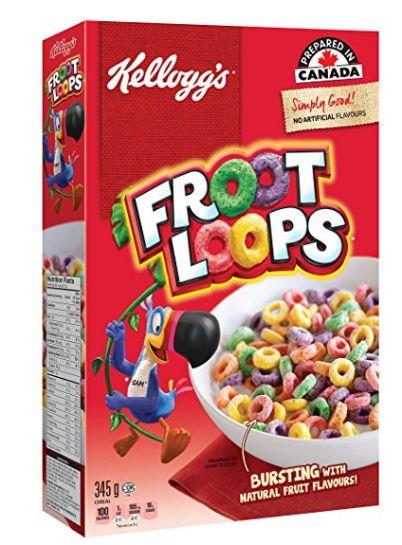 健康美味的早餐零食!Kellogg's Froot Loops 圈圈谷物早餐 2.99加元