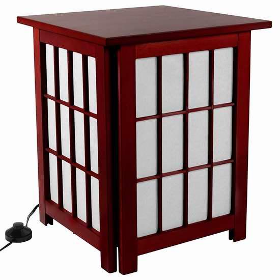 历史新低!Oriental Furniture 日式复古二合一 实木床头柜/落地灯2.1折 36.72加元限时清仓并包邮!