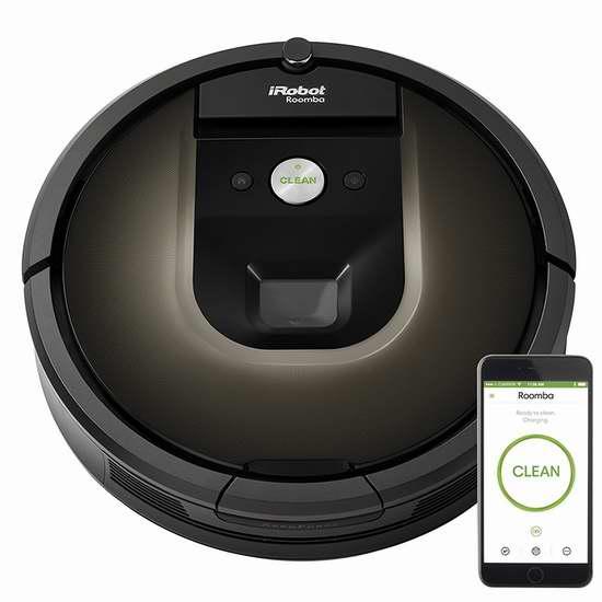历史新低!iRobot Roomba 980 第9代帝王级扫地机器人6.1折 674.16加元包邮!