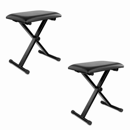Neewer X型折叠式琴凳/吉他凳/折叠凳2件套 39.99加元限量特卖并包邮!