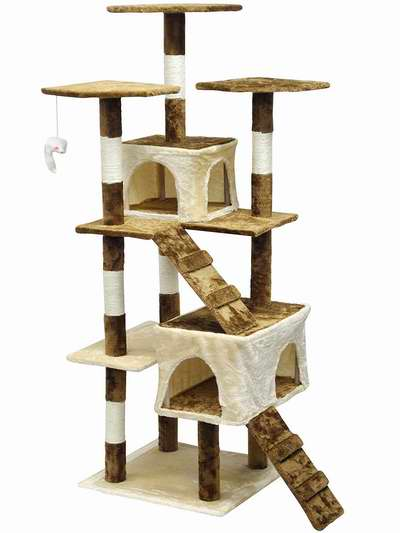 Homesity HC-002 63英寸轻便多层猫树公寓/猫爬架4.5折 103.46加元包邮!