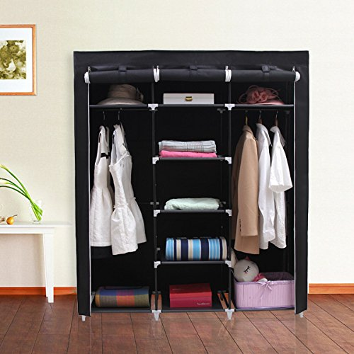 历史新低!SONGMICS URYG12H 59英寸便携式简易衣柜5.9折 33.99-36.54加元!2色可选!