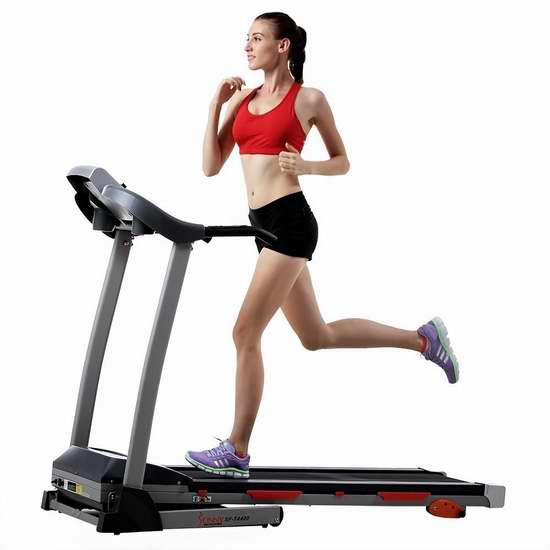 销量冠军!Sunny Health & Fitness SF-T4400 家用静音跑步机 411.24加元包邮!