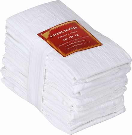 历史新低! Utopia Kitchen 纯棉厨房毛巾/洗碗布12件套5折 19.99加元限时特卖!