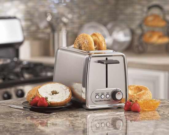 Hamilton Beach 22791C 时尚不锈钢镀铬烤吐司面包机6.1折 23.68加元限时特卖!