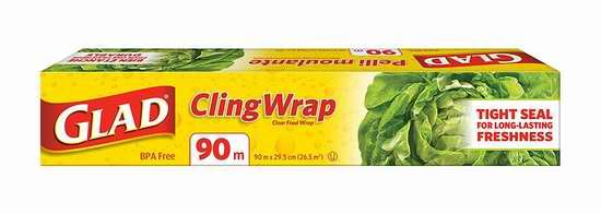 历史新低!Glad ClingWrap 90米 食物保鲜膜 3.97加元限时特卖!