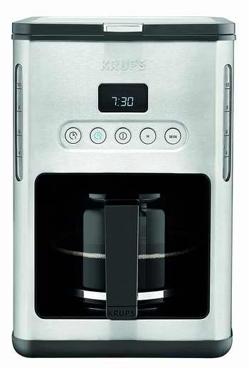 历史新低!KRUPS KM4442 10杯大容量 滴漏式双预约智能咖啡机5.5折 54.99加元限时特卖并包邮!