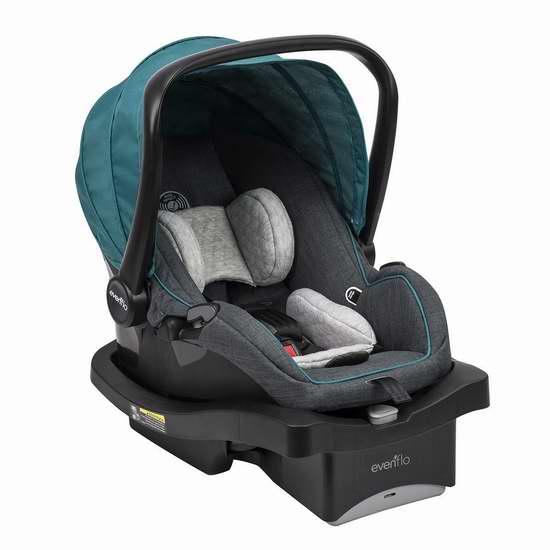 售价大降!历史新低!Evenflo Lux24 婴儿推车+提篮安全座椅旅行套装4.4折 178.68加元包邮!