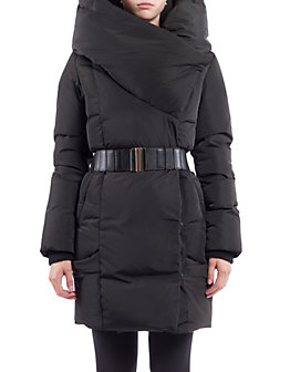 穿出身材显气质!NOIZE Shelby 黑色束腰羽绒外套 99.87加元(s码),原价 235加元,包邮