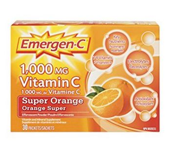 预防肺炎,增强免疫力! Emergen-C 维他命C冲剂 10.44加元,多种口味可选!