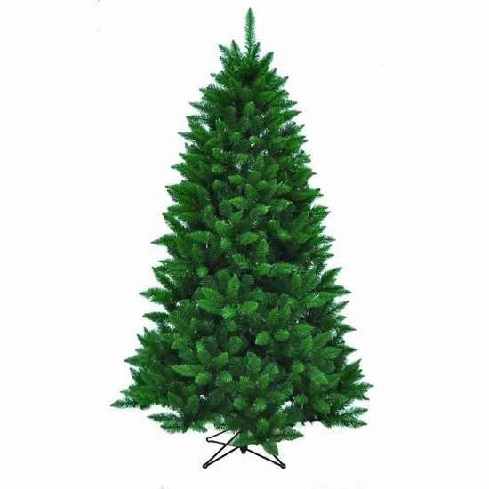 历史新低!Kurt Adler 7英尺圣诞树 54.28加元限时清仓并包邮!