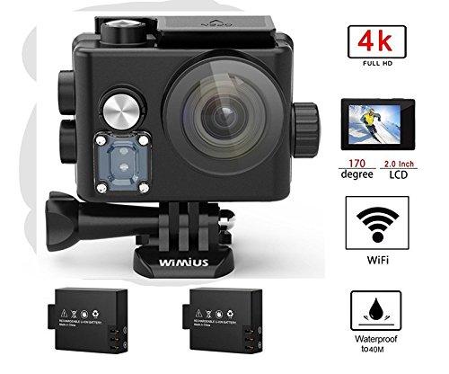 历史新低!WiMiUS Q6 4K 超高清超大广角无线WiFi运动摄像机/行车记录仪+双锂电池+支座附件套装 63.74加元限量特卖并包邮!