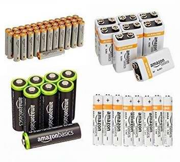 精选17款 AmazonBasics 高能电池、充电电池特价销售,满40加元额外立减10加元!