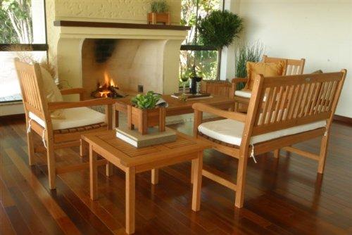 历史新低!Amazonia Milano 室内/室外 实木茶几座椅/桌椅5件套3.7折 380.33加元限时特卖并包邮!