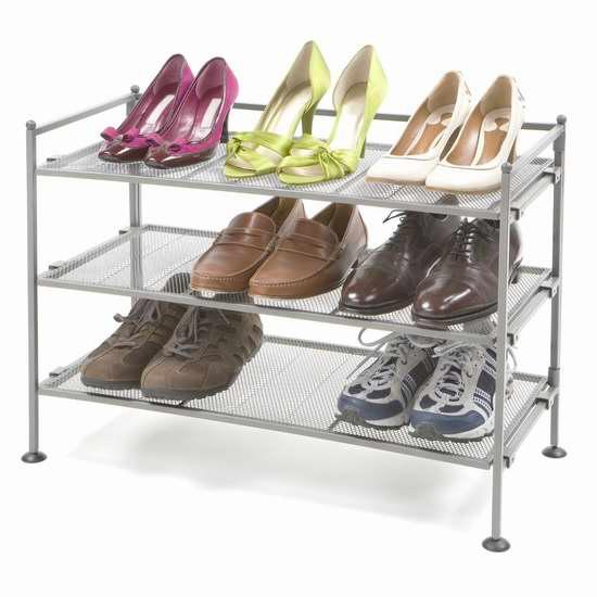 历史新低!Seville Classics SHE99905 三层金属鞋架 33.99加元限时特卖!