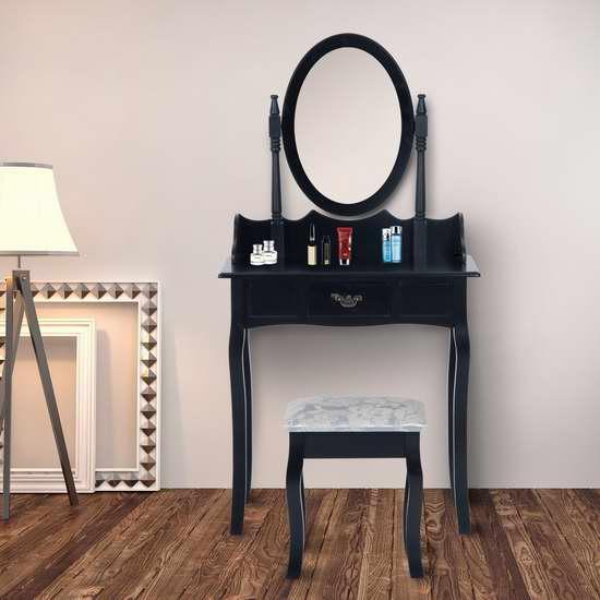 历史新低!HOMCOM 梳妆台桌椅两件套 144.96加元包邮!