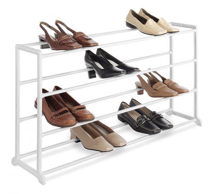 Whitmor 6780-3139-WHT 4层白色鞋架 16.13加元特卖!