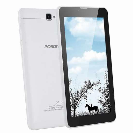 AOSON S7 Pro 4G LTE 3G GSM 7英寸 双卡双待 手机平板电脑 72.16加元限量特卖并包邮!