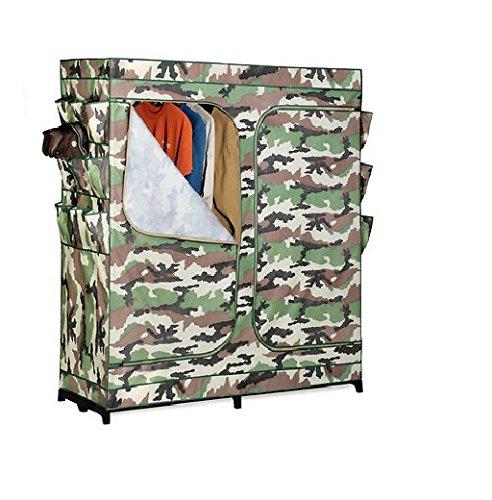 历史新低!Honey-Can-Do WRD-01518 60英寸 迷彩色钢结构简易衣柜2.7折 24.19加元限时清仓!