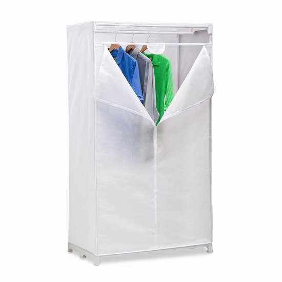 历史新低!Honey-Can-Do WRD-01271 36英寸钢结构简易衣柜2折 14.11加元限时清仓!