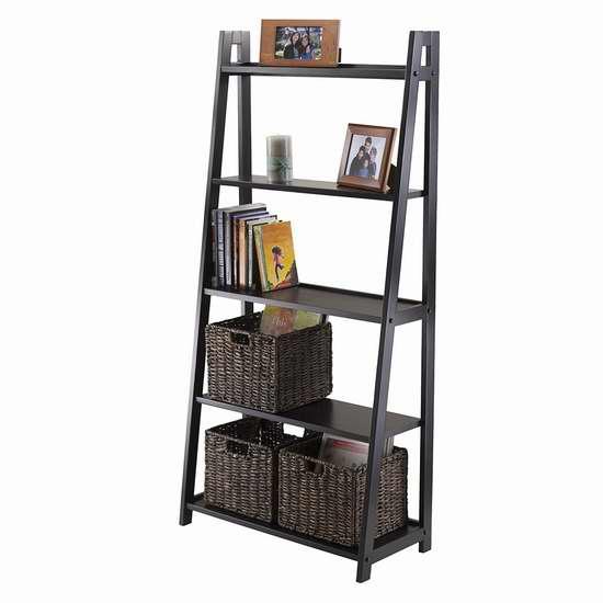 历史最低价!Winsome Wood Adam A字形5层实木书架/展示架 109.98加元包邮!会员专享!