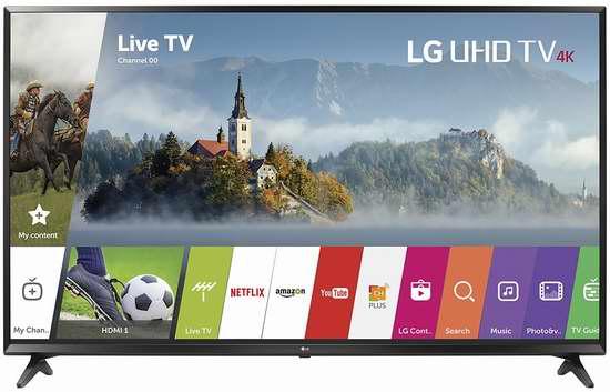 史低价上再降101加元!2017新款 LG 55UJ6300 55寸4K超高清智能电视 778.75加元包邮!