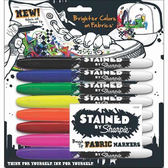 历史新低!Sharpie 锐意 1779005 8色 织物专用 永久记号彩色马克笔 9.99加元限时特卖!