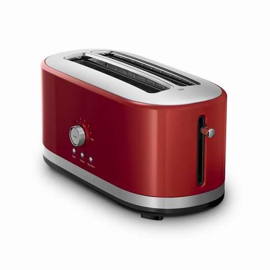 历史新低!KitchenAid KMT4116ER 超长插槽4片式烤面包机4折 79.99加元包邮!