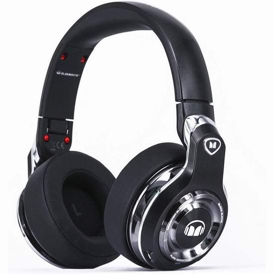 历史新低!Monster 魔声 Elements Over-Ear 包耳式蓝牙无线耳机2.9折 133.52加元清仓并包邮!