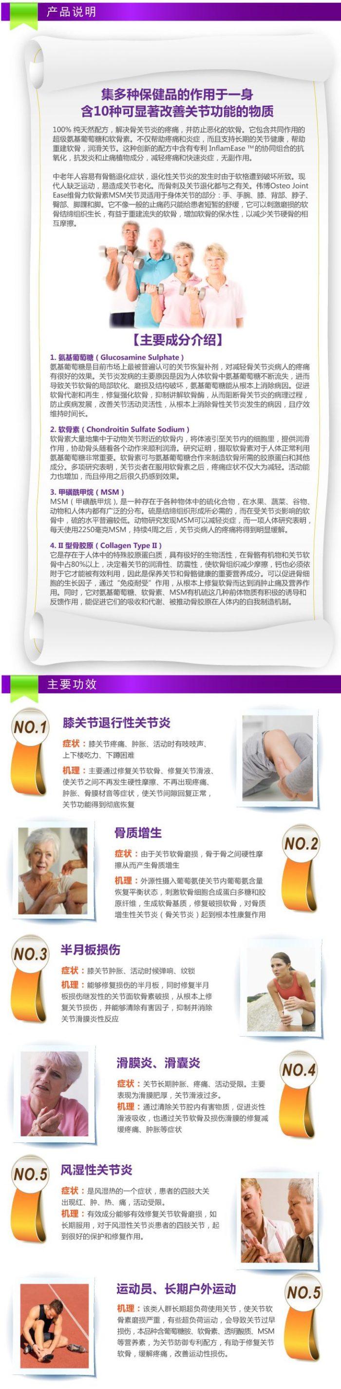 保护骨骼关节健康!Webber Naturals 葡萄糖胺软骨素MSM片(120粒)15.17加元,原价 26.32加元