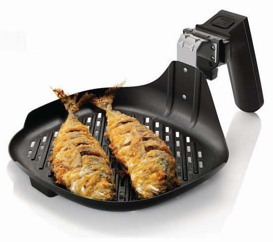 近史低价!Philips 飞利浦 HD9910/21 空气炸锅配件 烤鱼盘6.1折 39.99加元包邮!