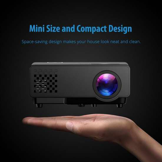 历史新低!Mpow 便携式1200流明家庭影院投影仪5.7折 67.99加元限量特卖并包邮!