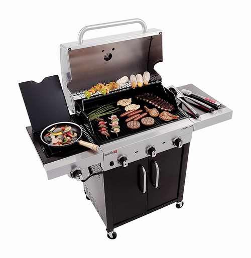 Char-Broil 463371316 Performance 3炉头+边炉不锈钢燃气BBQ烧烤炉 451.2加元包邮!