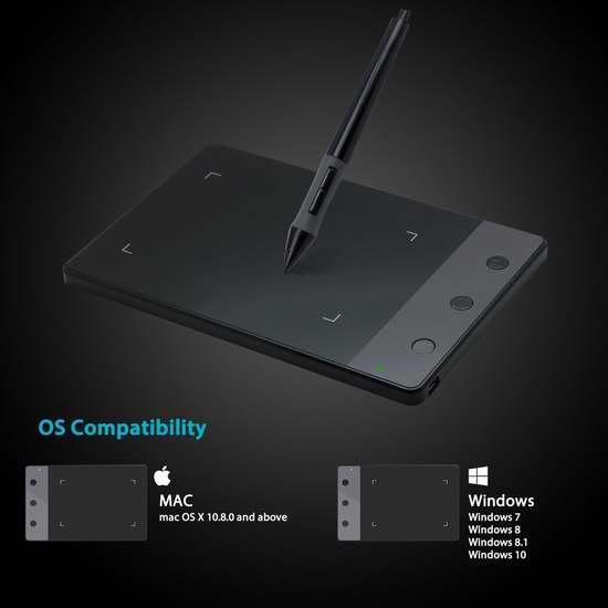 Huion 绘王 H420 数位板/电脑绘画板/手写板 26.39加元限量特卖!