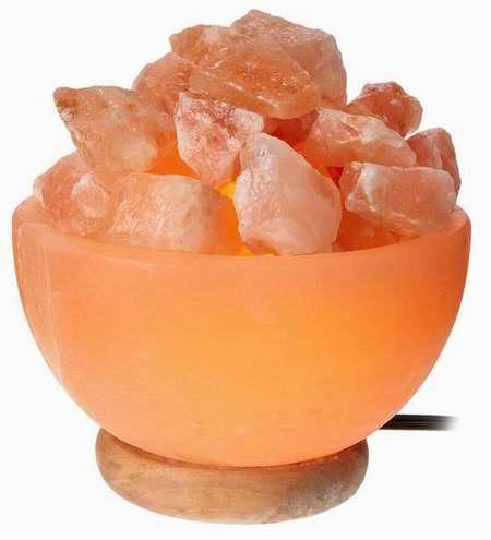 WBM 1326 6英寸 喜马拉雅纯天然负离子 碗形水晶盐灯3.4折 29.99加元!