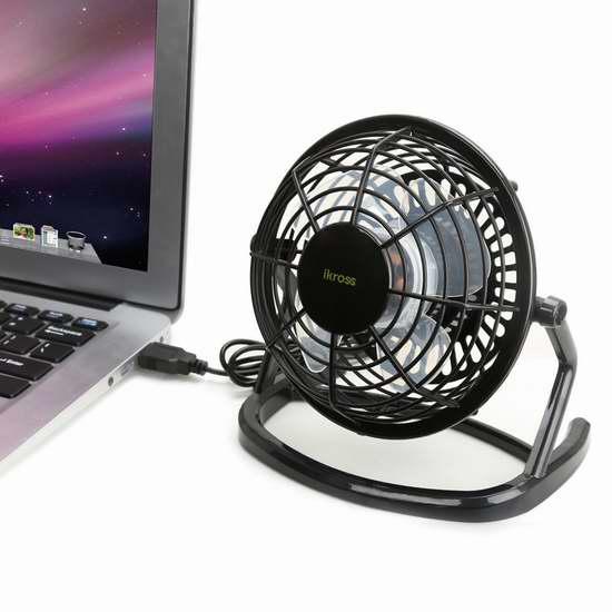 iKross USB 迷你风扇 10.19加元限量特卖!